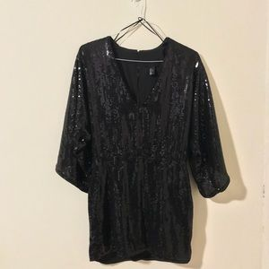 H&M Black Sequin Mini Dress